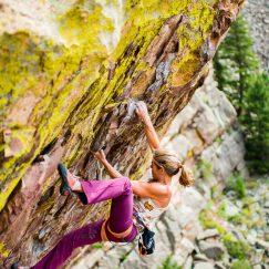Lynn Hill climbing